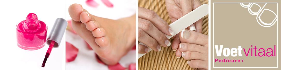 nagels lakken bij uw pedicure